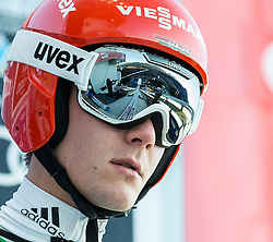 27.12.2016, Schattenbergschanze, Oberstdorf, GER, FIS Weltcup Ski Sprung, Vierschanzentournee, Oberstdorf, Probedurchgang, im Bild Stephan Leyhe (GER) // Stephan Leyhe of Germany during his Trial Jump for the Four Hills Tournament of FIS Ski Jumping World Cup at the Schattenbergschanze in Oberstdorf, Germany on 2016/12/27. EXPA Pictures © 2016, PhotoCredit: EXPA/ Peter Rinderer