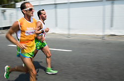 Blind Sandi Novak of Slovenia with guide Roman Kejzar competes at Men's Marathon - T12 Final during Day 11 of the Rio 2016 Summer Paralympics Games on September 18, 2016 in Copacabana beach, Rio de Janeiro, Brazil. Photo by Vid Ponikvar / Sportida