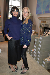 Left to right, NATALIA BARBIERI and JENNIFER PORTMAN at a preview of Bionda Castana's new seasons shoes hosted by Alex Meyers and Bionda Castana and held at The Arts Club, 40 Dover Street, London on 4th March 2015.
