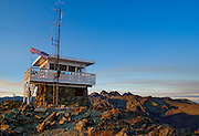 Sunrise at Heaven's Gate Fire Lookout in Idaho's Seven Devils Mountains.