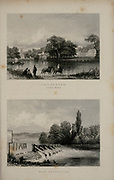 London Twickenham, Orleans House and Thames river lock Near Teddington From the book Illustrated London, or a series of views in the British metropolis and its vicinity, engraved by Albert Henry Payne, from original drawings. The historical, topographical and miscellanious notices by Bicknell, W. I; Payne, A. H. (Albert Henry), 1812-1902 Published in London in 1846 by E.T. Brain & Co