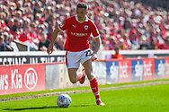 Jordan Williams of Barnsley (22) in action during the EFL Sky Bet League 1 match between Barnsley and Shrewsbury Town at Oakwell, Barnsley, England on 19 April 2019.
