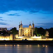 Tower of London and Themes at night