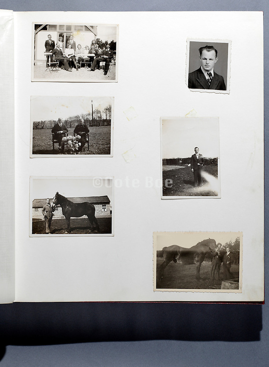 page from family photo album 1950s Holland