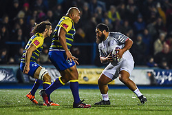 Charlie Faumuina of Toulouse in action  - Mandatory by-line: Craig Thomas/JMP - 14/01/2018 - RUGBY - BT Sport Cardiff Arms Park - Cardiff, Wales - Cardiff Blues v Toulouse - European Rugby Challenge Cup