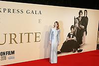 Emma Stone, The Favourite - UK Premiere, BFI London Film Festival, BFI Southbank, London, UK, 18 October 2018, Photo by Richard Goldschmidt