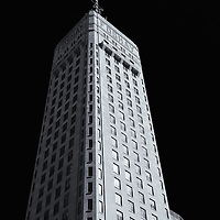 """""""Faces of Foshay"""" mono<br /> <br />  The historic Foshay Tower in downtown Minneapolis MN. <br /> <br /> Cities and Skyscrapers by Rachel Cohen"""