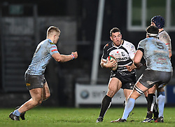 Dafydd Lockyer of Pontypridd<br /> <br /> Photographer Mike Jones/Replay Images<br /> <br /> Principality Premiership - Neath v Pontypridd - Friday 16th March 2018 - The Gnoll Neath<br /> <br /> World Copyright © Replay Images . All rights reserved. info@replayimages.co.uk - http://replayimages.co.uk