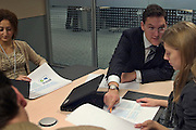 Moscow, Russia, 10/11/2004. .Office meeting  in  new TNK-BP headquarters.