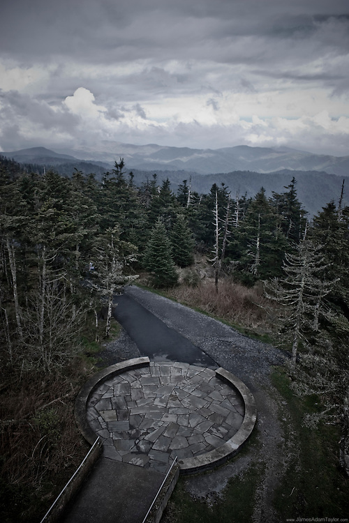 A view from Clingmans Dome, the highest peak on the Appalachian Trail.