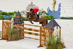 Enrique Gonzalez Delgado, (MEX), Quilebo Du Tillard - Team & Individual Competition Jumping Speed - Alltech FEI World Equestrian Games™ 2014 - Normandy, France.<br /> © Hippo Foto Team - Leanjo De Koster<br /> 02-09-14