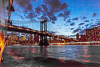 Manhattan Bridge, New York, New York USA.