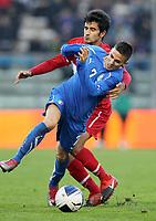 """Marco D'ALESSANDRO Italia<br /> Fermo 17/11/2010 Stadio """"Bruno Recchioni""""<br /> Amichevole <br /> Italia vs Turchia Under 21<br /> Foto Luca Pagliaricci Insidefoto"""