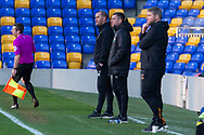 AFC Wimbledon manager Mark Robinson, Hull City manager Grant McCann during the EFL Sky Bet League 1 match between AFC Wimbledon and Hull City at Plough Lane, London, United Kingdom on 27 February 2021.