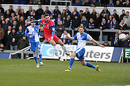 Gillingham's Chris Whelpdale © shoots and scores the 1st  goal. NPower league two match, Bristol Rovers v Gillingham at the Memorial stadium in Bristol on Saturday 5th Jan 2013. pic by Andrew Orchard, Andrew Orchard sports photography,