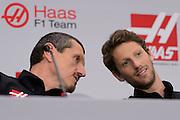 September 29, 2015: Guenther Steiner, Haas F1 Team principle. , Romain Grosjean, Haas Formula 1 team.
