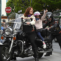 14-5-2018: Big hearted bikers worldwide will rally together for charity on 'Ride Sunday' which takes place on June 3rd. At Ireland BikeFest in Killarney, an official 'Ride Sunday' Parade will take place through the streets of the town in aid of Muscular Dystrophy Ireland. The parade is part of the jam-packed programme of Ireland BikeFest 2018 which takes place in the picturesque town across the June Bank Holiday Weekend. <br /> <br /> Pictured at the launch of Ride Sunday / Ireland Bikefest which takes place on Sunday June 3rd in Killarney were Gerry Kunert, Killarney, Fiona Carroll, Killarney  and wannabe biker Jennifer Rae from Killarney.<br /> For more visit www.irelandbikefest.com <br /> Photo: Don MacMonagle<br /> <br /> pr photo photo Ireland Bikefest<br /> <br /> further info: aoife.odonoghue@gleneaglehotel.com