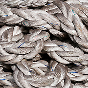 Scenes from a ship yard in Dubai. Abstract detail of rope.