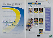 All Ireland Senior Hurling Championship Final,.08.09.2002, 09.08.2002, 8th September 2002,.Senior Kilkenny 2-20, Clare 0-19,.Minor Kilkenny 3-15, Tipperary 1-7,.8092002AISHCF,.The Clare Champion,