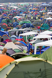 © Licensed to London News Pictures . 24/08/2012 . Leeds , UK . Hundreds of tents at the Leeds festival , in Bramham Park . Photo credit : Joel Goodman/LNP