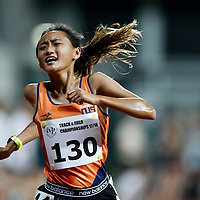 Vanessa Lee of National University of Singapore reacts as she crosses the finish line during the women's 5000m event. (Photo © Lim Yong Teck/Red Sports) The 2018 Institute-Varsity-Polytechnic Track and Field Championships were held over three days in January.<br /> <br /> Story: https://www.redsports.sg/2018/01/15/ivp-day-one/<br /> <br /> Story: https://www.redsports.sg/2018/01/18/ivp-day-two/<br /> <br /> Story: https://www.redsports.sg/2018/01/23/ivp-day-three/