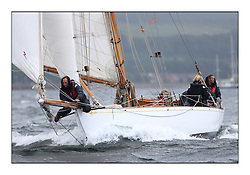 Day two of the Fife Regatta,Passage race to Rothesay.<br /> Viola, Yvon Rautureau, FRA, Gaff Cutter, Wm Fife 3rd, 1908<br /> * The William Fife designed Yachts return to the birthplace of these historic yachts, the Scotland's pre-eminent yacht designer and builder for the 4th Fife Regatta on the Clyde 28th June–5th July 2013<br /> <br /> More information is available on the website: www.fiferegatta.com