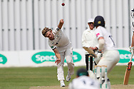 David Willey of Yorkshire bowling during the Specsavers County Champ Div 1 match between Yorkshire County Cricket Club and Warwickshire County Cricket Club at York Cricket Club, York, United Kingdom on 18 June 2019.