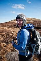 Portrait of female hiker in Black Mountains, Wales