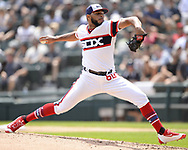 CHICAGO - JULY 28:  Jimmy Cordero #60 of the Chicago White Sox pitches against the Minnesota Twins on July 28, 2019 at Guaranteed Rate Field in Chicago, Illinois.  (Photo by Ron Vesely)  Subject:   Jimmy Cordero