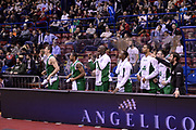 DESCRIZIONE : Milano Coppa Italia Final Eight 2014 Semifinali Enel Brindisi Montepaschi Siena<br /> GIOCATORE : team<br /> CATEGORIA : panchina team esultanza<br /> SQUADRA : Enel Brindisi Montepaschi Siena<br /> EVENTO : Beko Coppa Italia Final Eight 2014<br /> GARA : Enel Brindisi Montepaschi Siena<br /> DATA : 08/02/2014<br /> SPORT : Pallacanestro<br /> AUTORE : Agenzia Ciamillo-Castoria/C.De Massis<br /> Galleria : Lega Basket Final Eight Coppa Italia 2014<br /> Fotonotizia : Milano Coppa Italia Final Eight 2014 Semifinali Enel Brindisi Montepaschi Siena<br /> Predefinita :