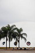 Sao Paulo_SP, Brasil.. .Pavilhao Lucas Nogueira Garcez (OCA) no Parque do Ibirapuera, projetado por Oscar Niemeyer. ..The Pavilhao Lucas Nogueira Garcez (OCA) at Ibirapuera Park, designed by Oscar Niemeyer. ..Foto: BRUNO MAGALHAES / NITRO