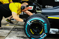 November 11, 2017 - Brazil - SAO PAULO, SP - 11.11.2017: QUALIFYING PARA GP F1 - Team Renault Sport F1, start training. Classifying training day on Saturday (11), for the Brazilian Formula 1 Grand Prix, which will take place on Sunday (12) at the Jose Carlos Pace racetrack in Interlagos. (Credit Image: © Fotoarena via ZUMA Press)