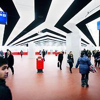 Nederland, Amsterdam , 21 november 2011..nieuwe halvan het metrostation Amsterdam Centraal.Foto:Jean-Pierre Jans