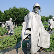 Statues at the Korean War Memorial on the National Mall Editorial Use Only.