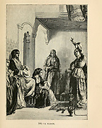Turkish Harem engraving on wood From The human race by Figuier, Louis, (1819-1894) Publication in 1872 Publisher: New York, Appleton