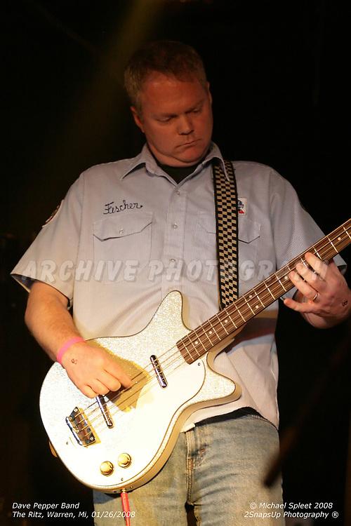 WARREN, MI, SATURDAY, JAN. 26, 2008: Dave Pepper Band, Jeff Ball at The Ritz, Warren, MI, 01/26/2008. (Image Credit: Michael Spleet / 2SnapsUp Photography)