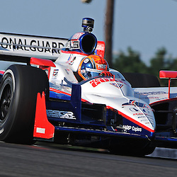 Panther Racing's Dan Wheldon during practice for the 2010 Honda Indy 200 at Mid-Ohio Sports Car Course in Lexington, OH.