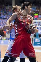 San Pablo Burgos Goran Huskic and Gipuzkoa Basket Henk Norel during Liga Endesa match between San Pablo Burgos and Gipuzkoa Basket at Coliseum Burgos in Burgos, Spain. December 30, 2017. (ALTERPHOTOS/Borja B.Hojas)