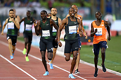May 31, 2018 - Rome, Italy - Cheruiyot Ferguson Rotich (KEN) and Wyclife Kinyamal (KEN) compete in 800m men during Golden Gala Iaaf Diamond League Rome 2018 at Olimpico Stadium in Rome, Italy on May 31, 2018. (Credit Image: © Matteo Ciambelli/NurPhoto via ZUMA Press)
