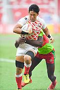 Yoshitaka Tokunaga (JPN), APRIL 17, 2016 - Rugby : HSBC Sevens World Series, Singapore Sevens match Japan and Portugal at National Stadium in Singapore. (Photo by Haruhiko Otsuka/AFLO)