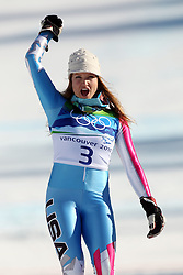 Olympic Winter Games Vancouver 2010 - Olympische Winter Spiele Vancouver 2010, Alpine Skiing (Ladies' Super Combined), Julia MANCUSO (USA) ***Photo by Malte Christians / HOCH ZWEI / SPORTIDA.com.
