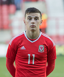WREXHAM, WALES - Thursday, November 10, 2016: Wales' Thomas Harris before kick off against Greece during the UEFA European Under-19 Championship Qualifying Round Group 6 match at the Racecourse Ground. (Pic by Gavin Trafford/Propaganda)