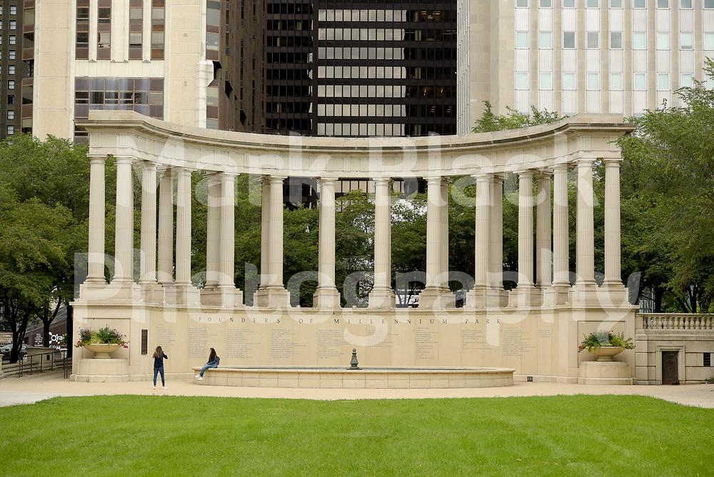 The Millennium Monument in Millennium Park in Chicago, Illinois.<br /> Photo by Mark Black