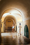 Inside view of Thermes Sextius, largest wellness area in the heart of historical center of Aix-en-Provence - France - A unique place with a broad range of services dedicated to rejuvenation, balance and fitness.