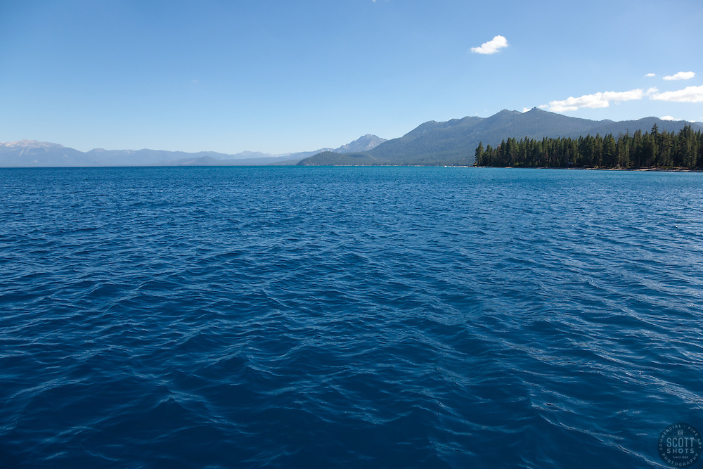 """""""Lake Tahoe 11"""" - This scene was photographed near the West shore of Lake Tahoe, California."""