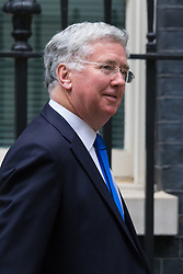 Downing Street, London, June 2nd 2015. Michael Fallon, Secretary for Defence leaves 10 Downing Street following the weekly meeting of the Cabinet.