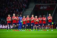 Equipe Lille avant match - 03.02.2015 - Lille / Lens - 35eme journee de Ligue 1<br />Photo : Dave Winter / Icon Sport