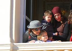Princess Caroline of Hanover,Sacha Casiraghi, Raphael Casiraghi, Charlotte Casiraghi attending the Monaco National Day Celebrations in the Monaco Palace Courtyard on November 19, 2017 in Monaco, Monaco. Photo by Yuri Krakow/ABACAPRESS.COM