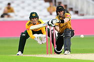Lewis Hill of Leicestershireduring the Vitality T20 Blast North Group match between Nottinghamshire County Cricket Club and Leicestershire County Cricket Club at Trent Bridge, Nottingham, United Kingdom on 4 September 2020.