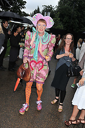 GRAYSON PERRY at the annual Serpentine Gallery Summer Party sponsored by Burberry held at the Serpentine Gallery, Kensington Gardens, London on 28th June 2011.